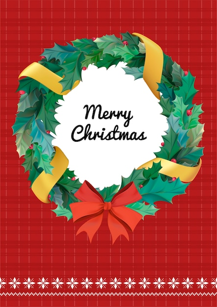 Christmas greeting card vector Vector | Free Download