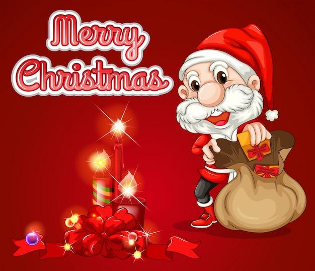 Christmas Greeting Card Free Vector