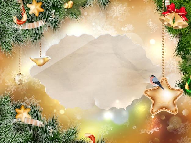 Christmas greeting card. Premium Vector