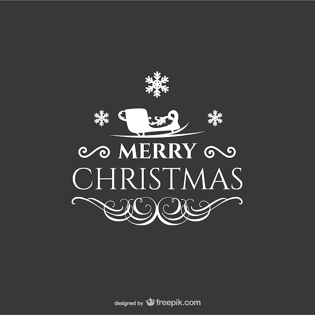 Christmas greeting Free Vector