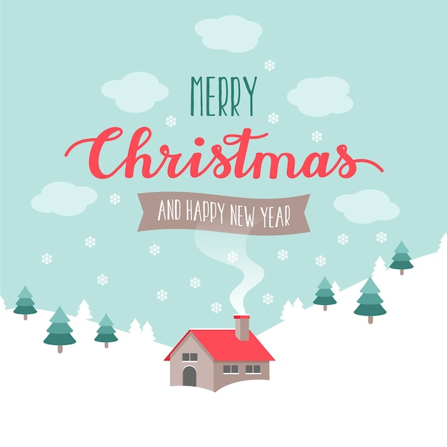 christmas greeting vector free download