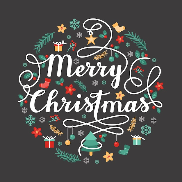 Christmas greeting Free Vector