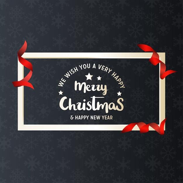 Christmas Greetings Card Free Vector