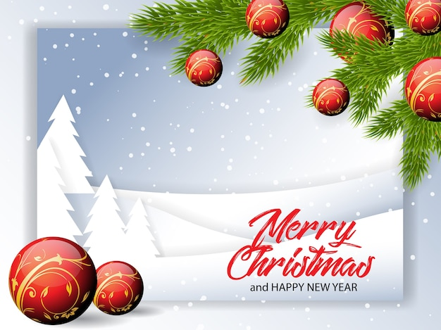 Christmas greetings illustration Premium Vector