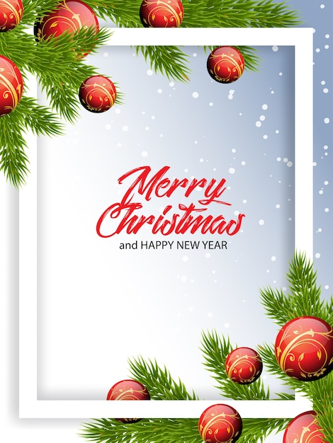 Christmas greetings illustration Premium Vector