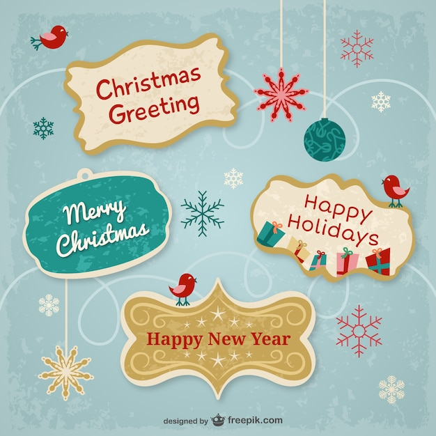 Christmas greetings stickers vector free download christmas greetings stickers free vector m4hsunfo