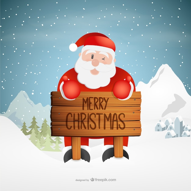 Christmas greetings with Santa Claus\ cartoon