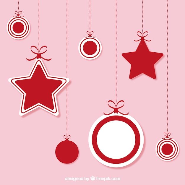 Christmas hanging ornaments Vector | Free Download