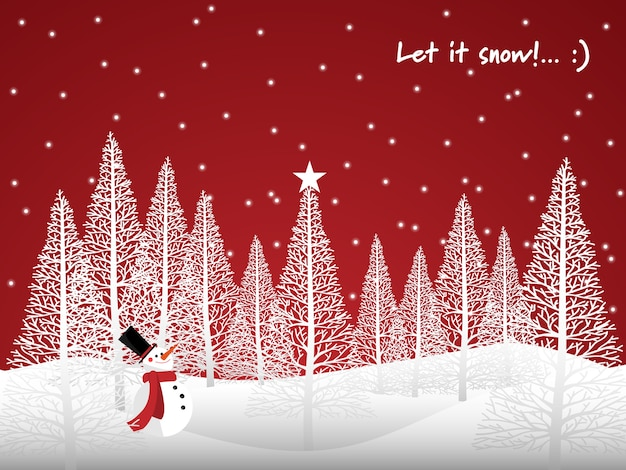 Christmas Holiday Background.Christmas Holiday Season Background With Let It Snow Text