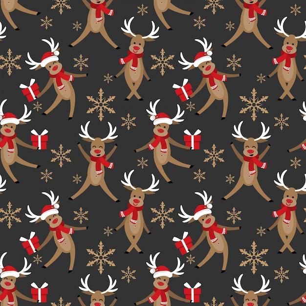 Christmas holiday season seamless pattern. Premium Vector