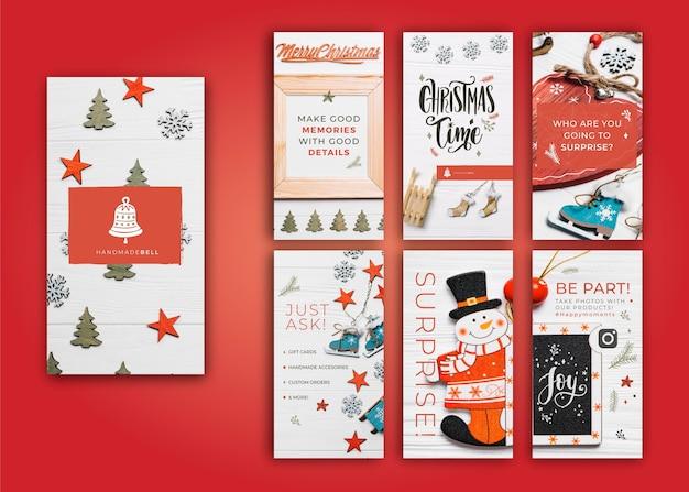 Сборник рождественских историй ig Бесплатные векторы