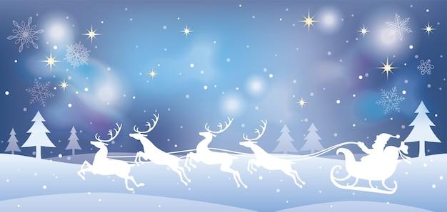 산타 클로스와 크리스마스 일러스트 무료 벡터