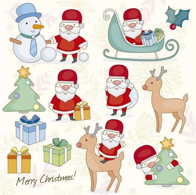 Christmas Illustrations.Christmas Illustration Vector Free Download