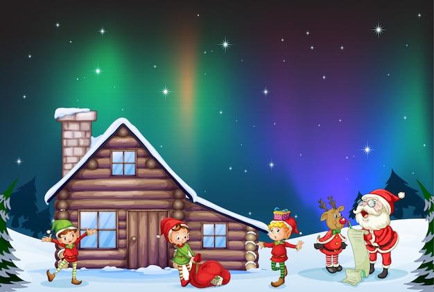 クリスマスはここにあります 無料ベクター