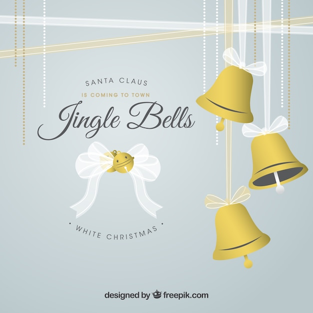 Christmas jingle bells background Vector | Free Download