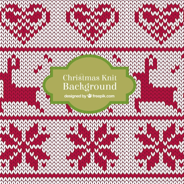 Christmas Knitting Background : Christmas knit deer background vector free download