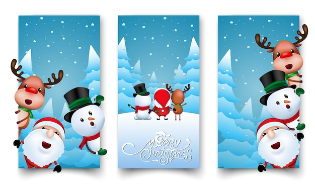 Christmas labels design Premium Vector