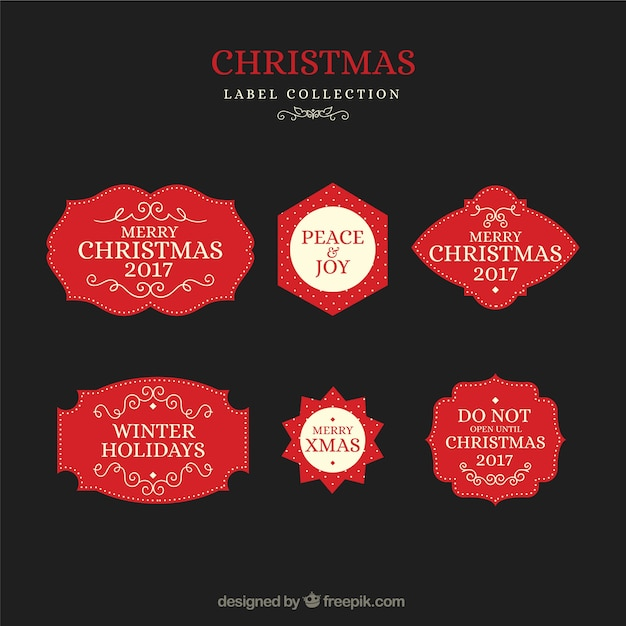 Christmas labels with elegant style