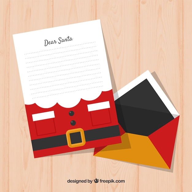 Download This Free Vector Christmas Letter Template Decorated As