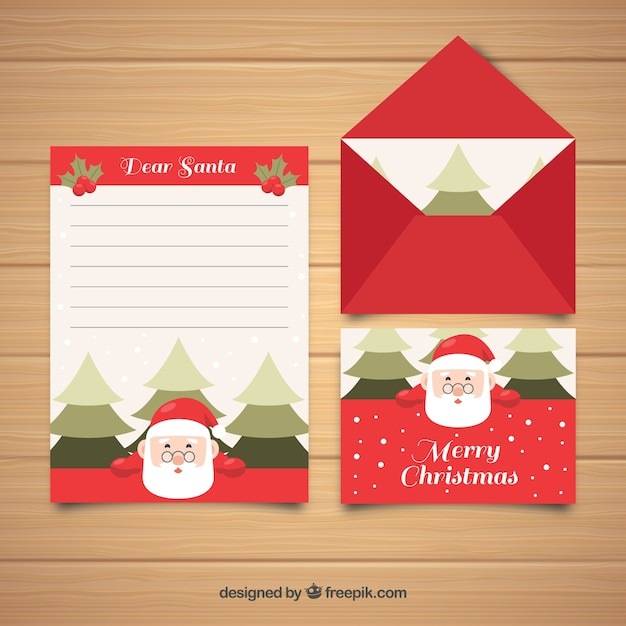 Christmas letter template with santa claus vector free download christmas letter template with santa claus free vector spiritdancerdesigns Gallery