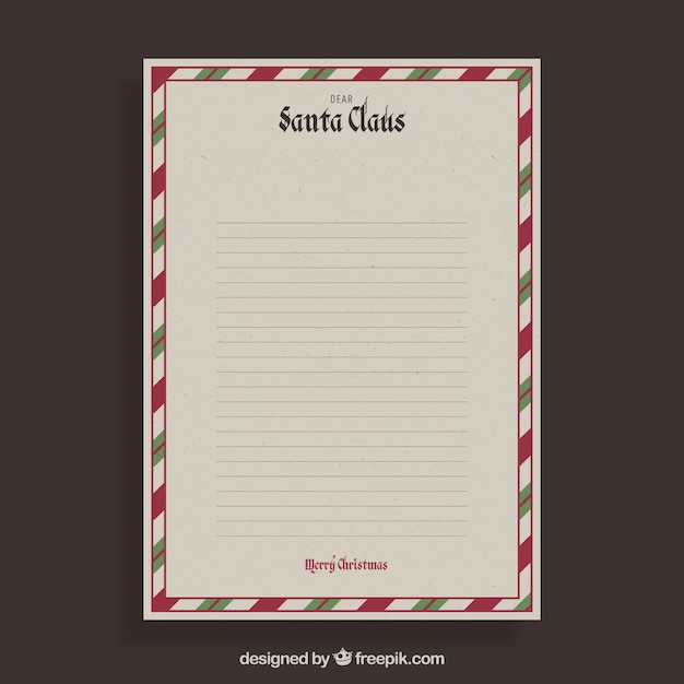 Christmas letter template with vintage border vector free download christmas letter template with vintage border free vector spiritdancerdesigns Images