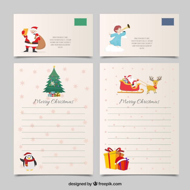 Christmas letter template vector free download christmas letter template free vector spiritdancerdesigns Gallery