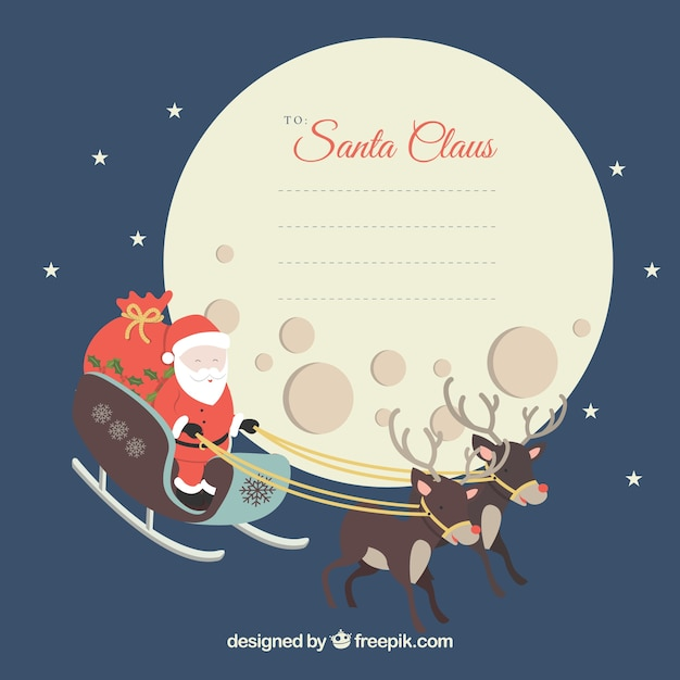 Christmas letter to santa claus Free Vector