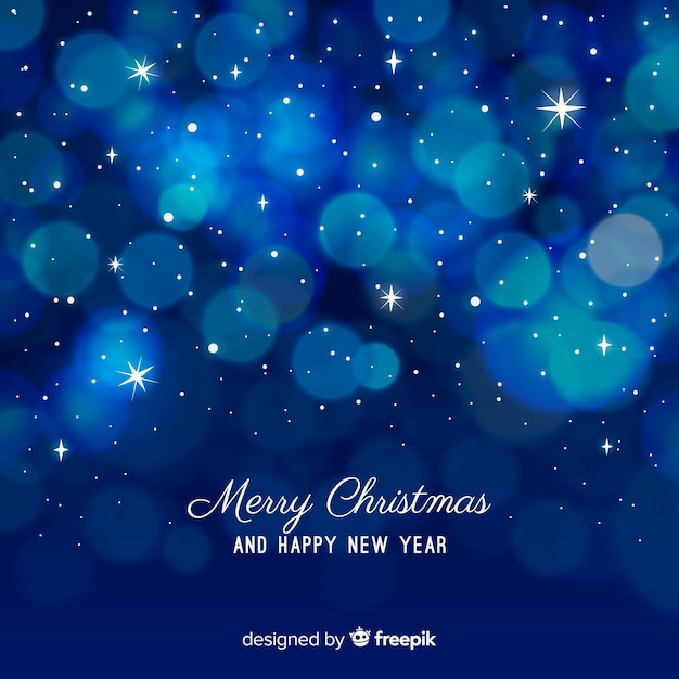 Christmas light circles background Free Vector