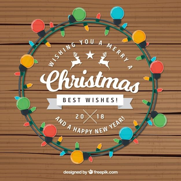 demo 24 - Christmas Lights Wreath Vector Free Download