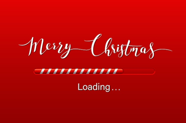 Christmas loading greeting card Premium Vector