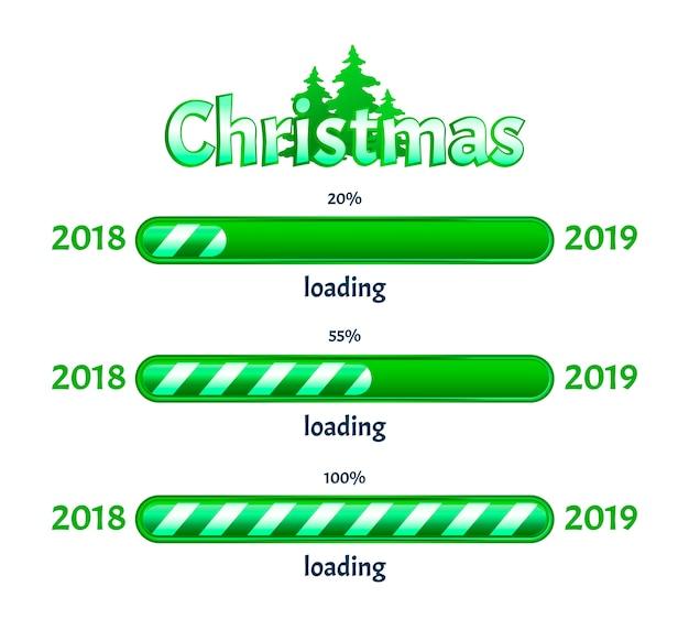 Christmas loading Premium Vector