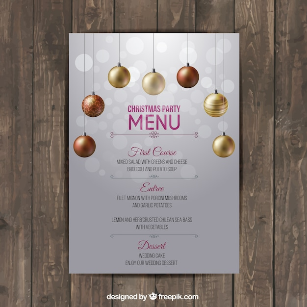 Christmas menu template Vector | Free Download