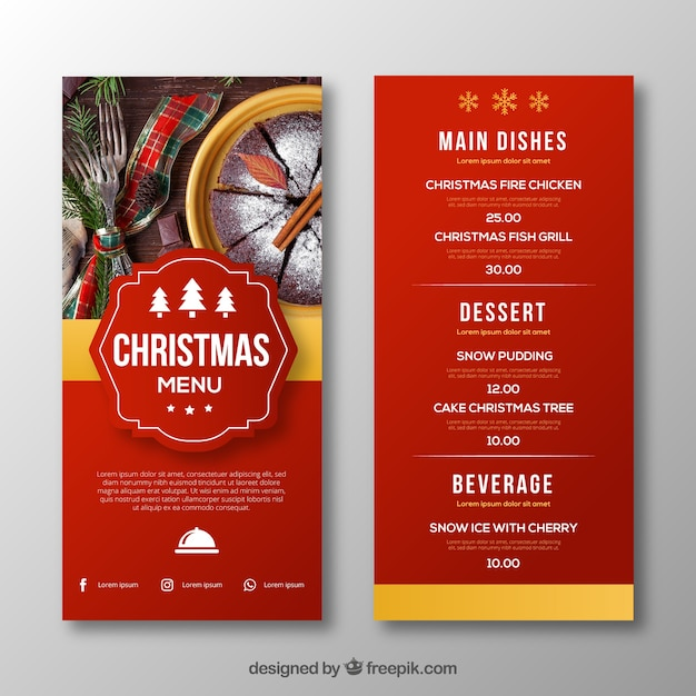 menu design templates