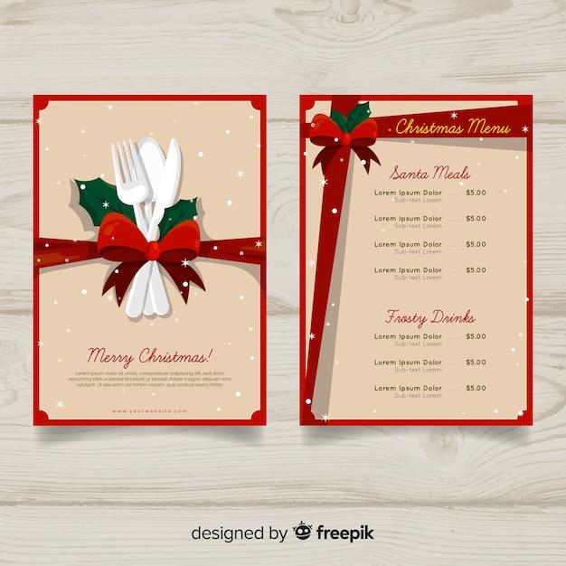 Christmas menu Free Vector