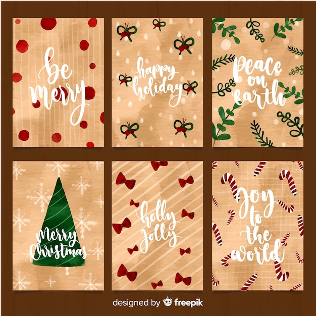 Free Vector Christmas Messages Cards Collection