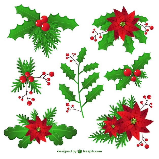 christmas mistletoe decoration free vector