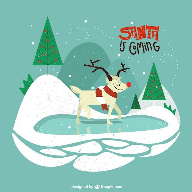 Christmas nature illustración