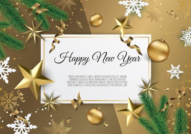 Christmas and new year background, xmas card Premium Vector