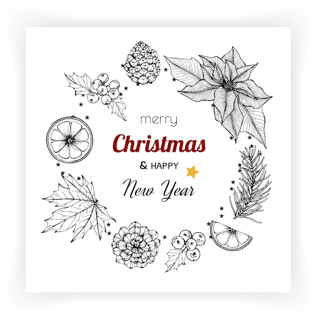 Christmas and new year backgrounds and greeting card. Premium Vector