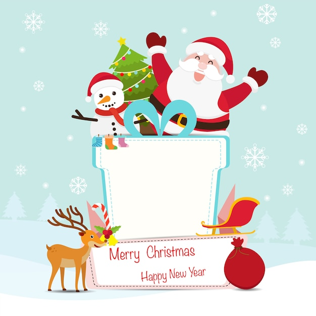 Christmas and new year decoration background Premium Vector