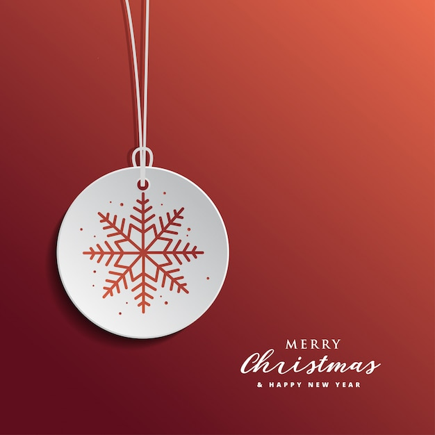 Christmas and new year greertig card design with red background Premium Vector