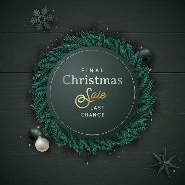 Christmas and new year  lay composition. Premium Vector