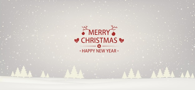 EPS Background giáng sinh và năm mới tuyết nền trắng với cây thông Noel.