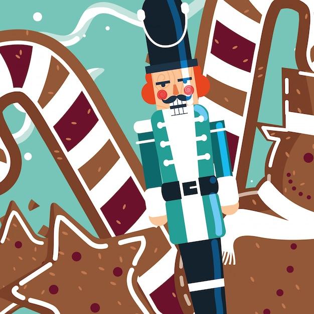 Christmas nutcracker design Premium Vector