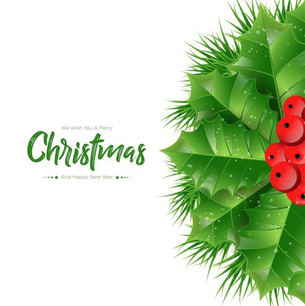 전나무 가지의 크리스마스 프리미엄 벡터