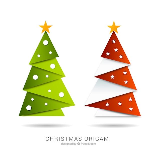 christmas origami vector free download. Black Bedroom Furniture Sets. Home Design Ideas