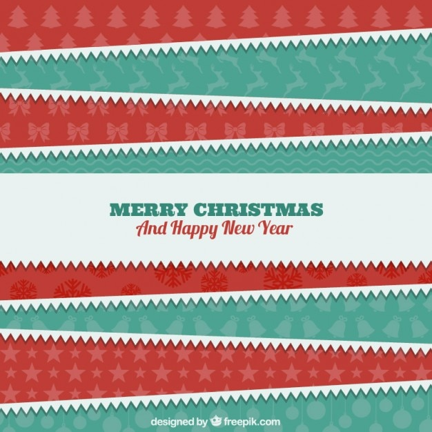 christmas paper stripes background free vector