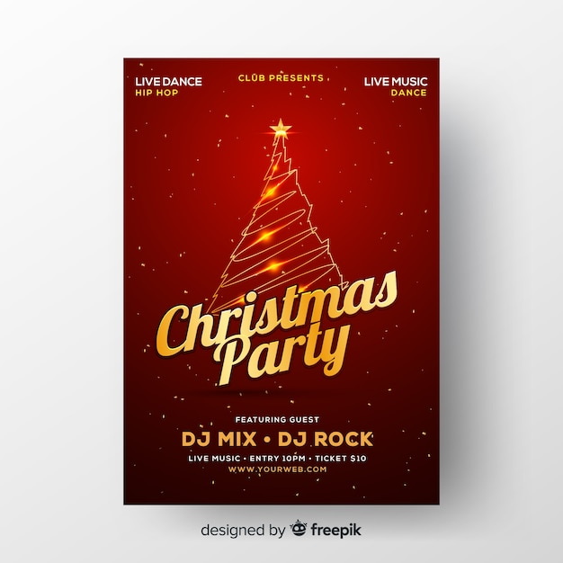 Christmas party banner Free Vector