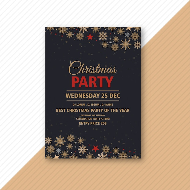 Christmas party event flyer  template Free Vector