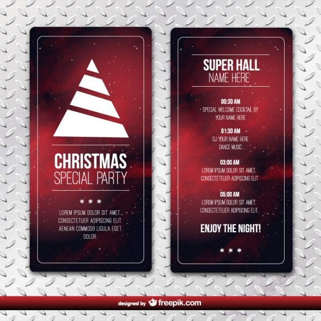 christmas party flyer template free vector